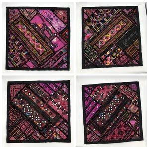Set of 4, 15 x 15 decorative accent pillows